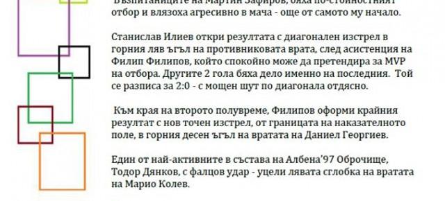 ФК ДРАГОМАН УДАРИ ФК АЛБЕНА'97 И СИ ОСИГУРИ ФИНАЛ